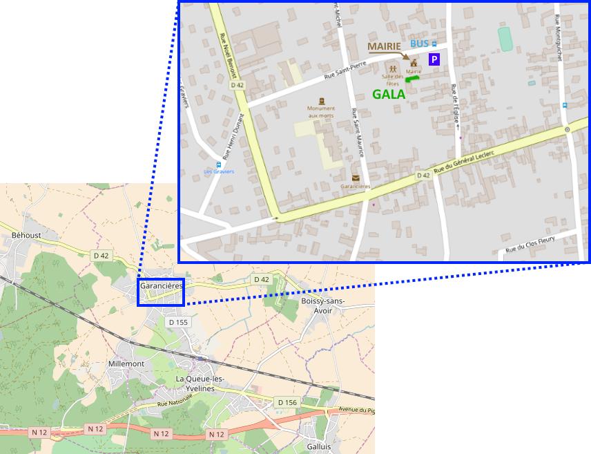 Plan d'accès Gala